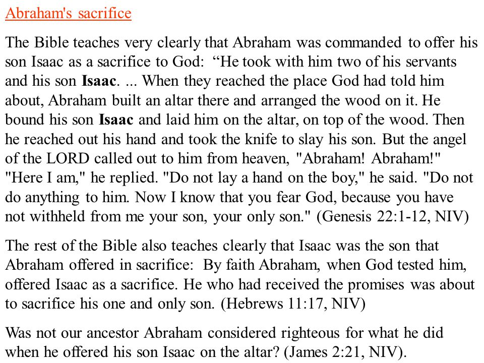 Abraham s sacrifice