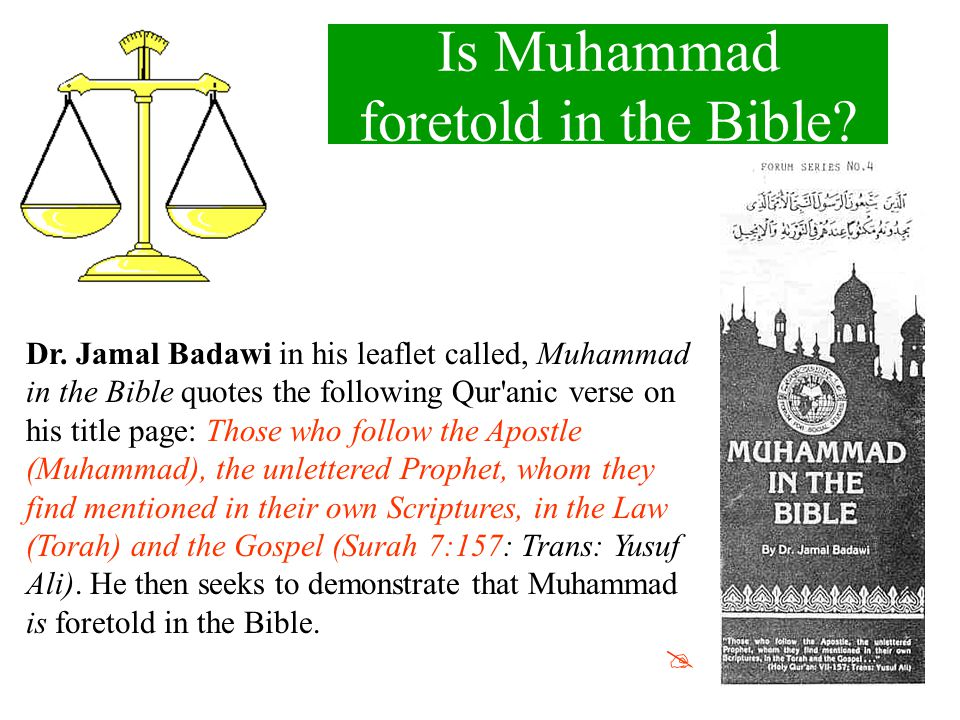 Is Muhammad foretold in the Bible
