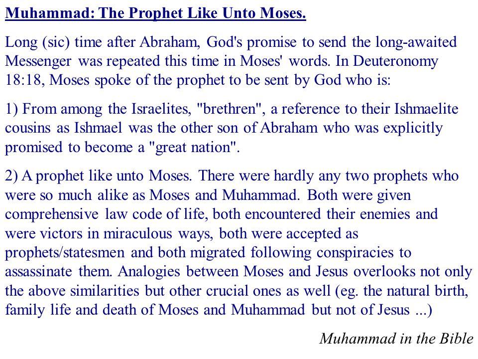 Muhammad: The Prophet Like Unto Moses.