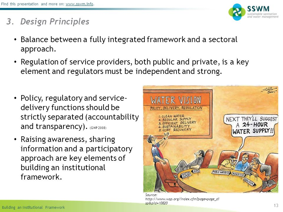 09/06/10 3. Design Principles. Balance between a fully integrated framework and a sectoral approach.