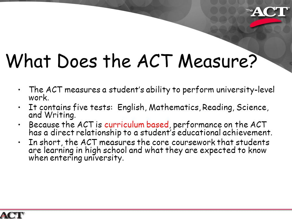 What Does the ACT Measure