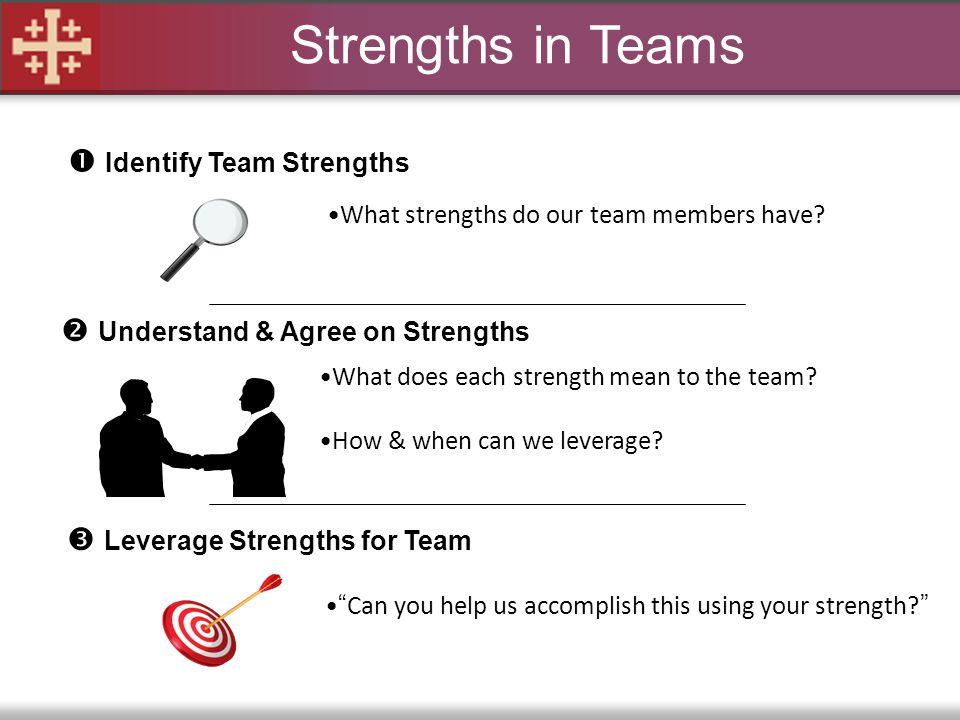 Strengths in Teams  Identify Team Strengths