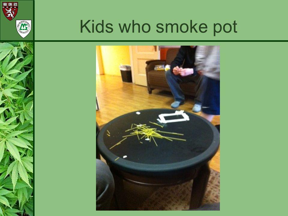 Kids who smoke pot