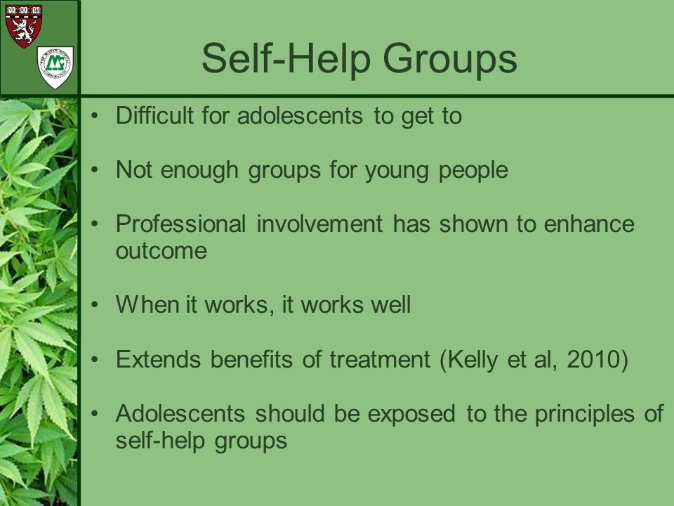 Self-Help Groups Difficult for adolescents to get to
