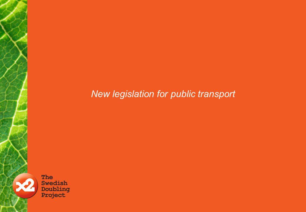 New legislation for public transport