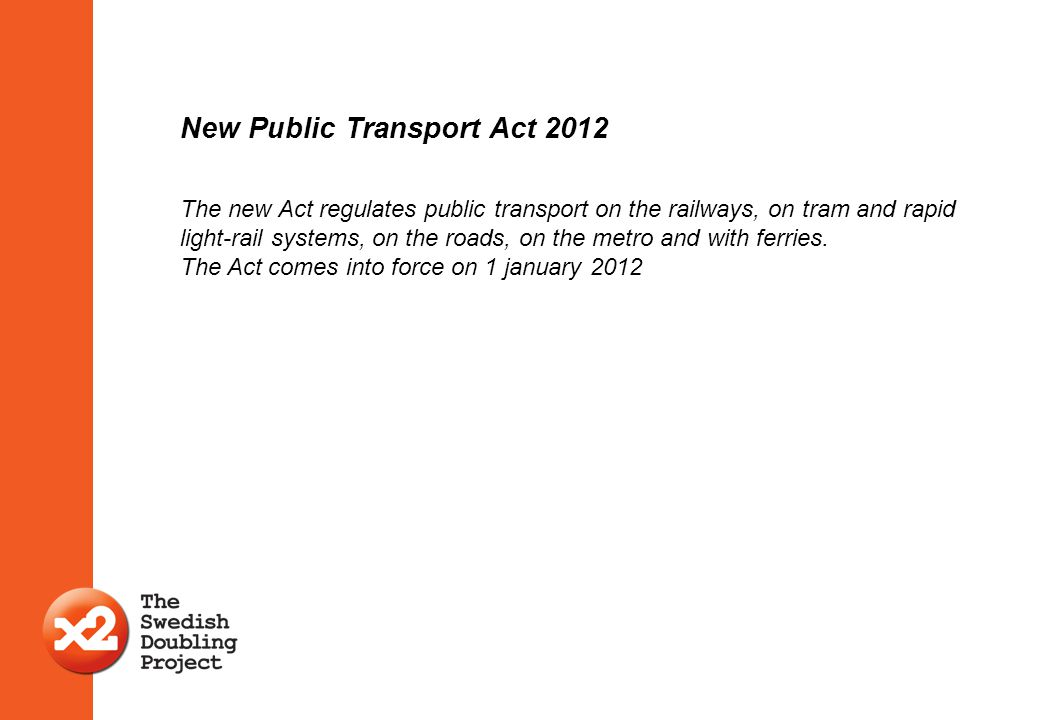 New Public Transport Act 2012