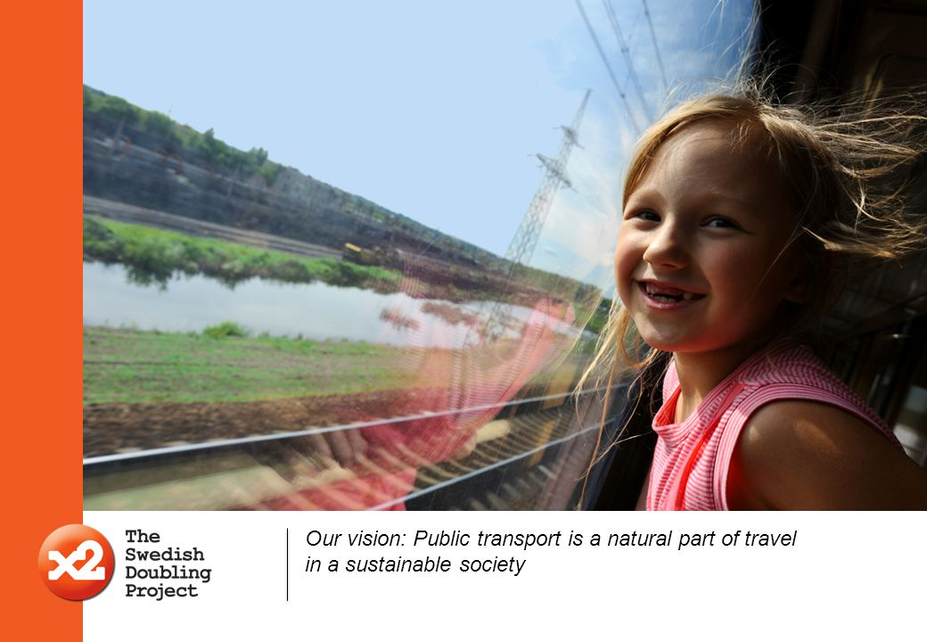 Our vision: Public transport is a natural part of travel in a sustainable society