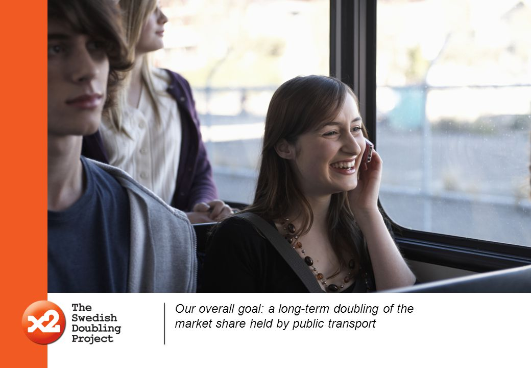 Our overall goal: a long-term doubling of the market share held by public transport
