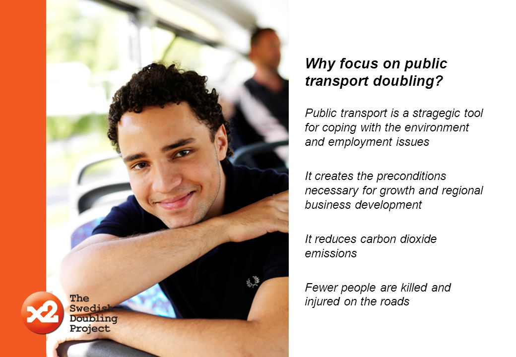 Why focus on public transport doubling
