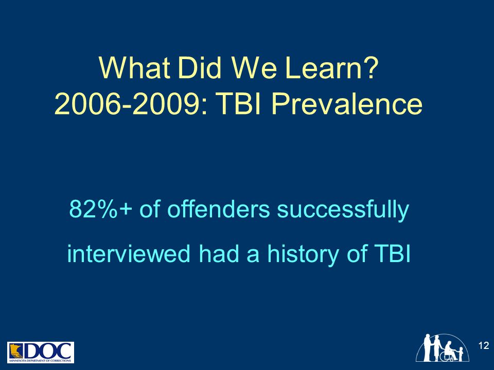 What Did We Learn 2006-2009: TBI Prevalence