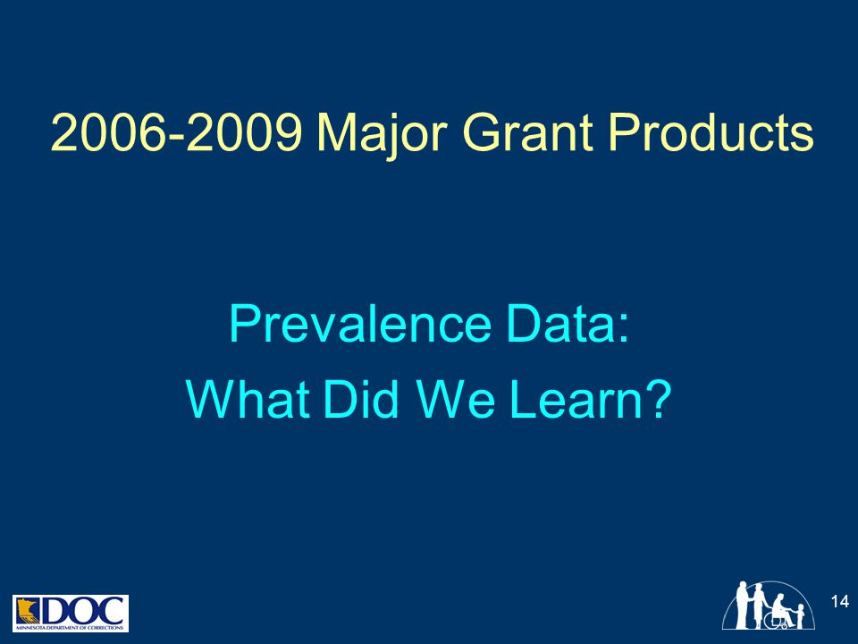 Prevalence Data: What Did We Learn