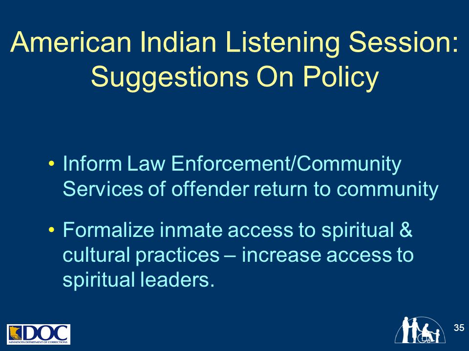American Indian Listening Session: Suggestions On Policy