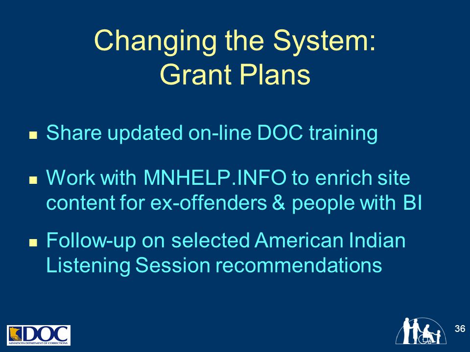 Changing the System: Grant Plans