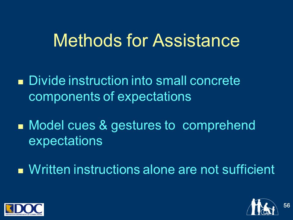 Methods for Assistance