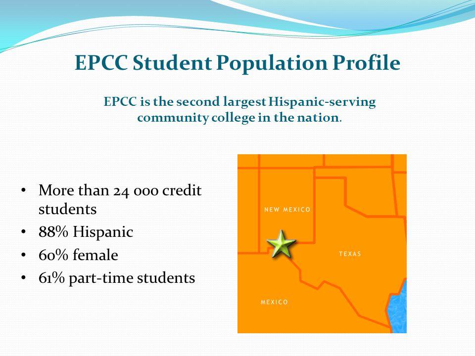EPCC Student Population Profile