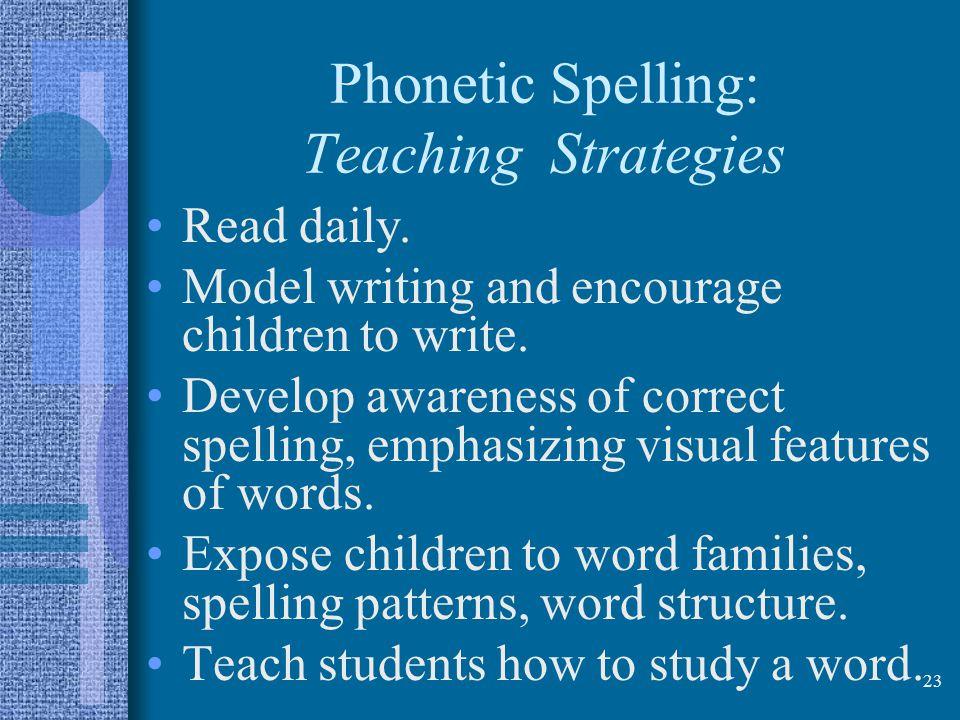 Phonetic Spelling: Teaching Strategies