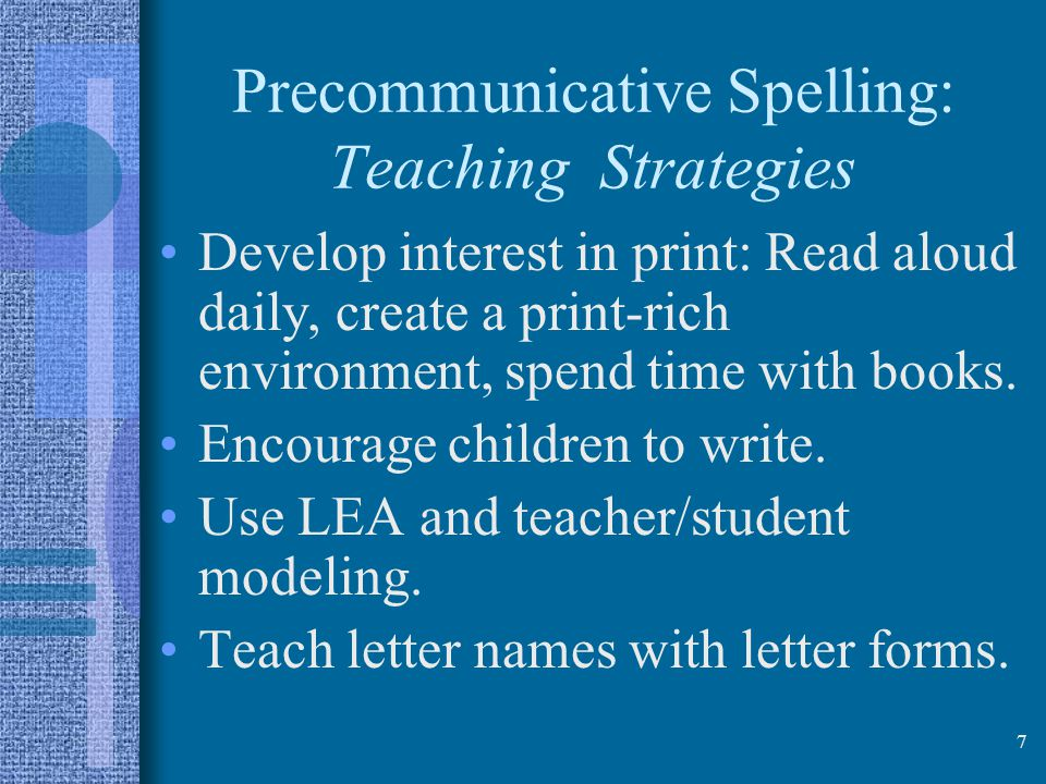 Precommunicative Spelling: Teaching Strategies