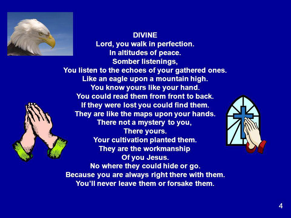Lord, you walk in perfection. In altitudes of peace.