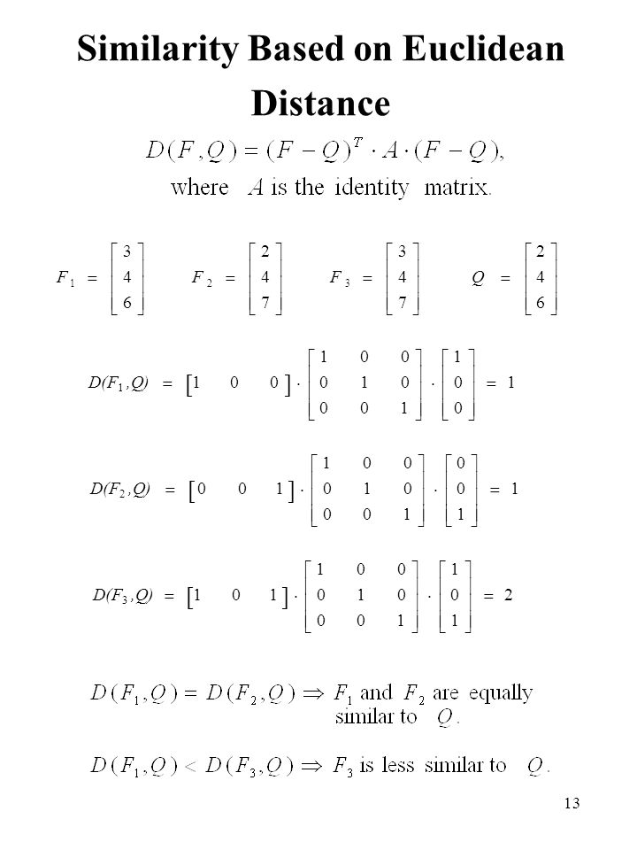 Similarity Based on Euclidean Distance