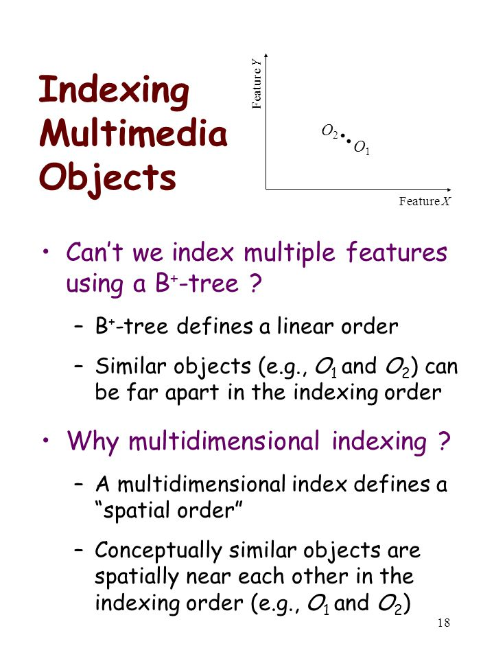 Indexing Multimedia Objects