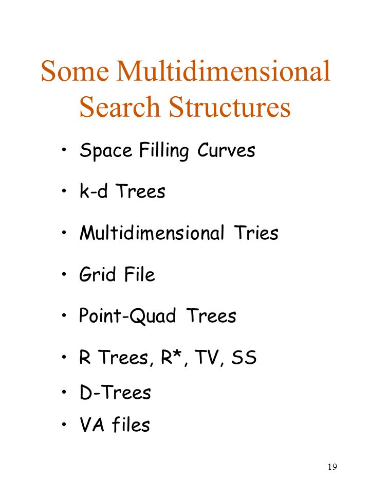 Some Multidimensional Search Structures