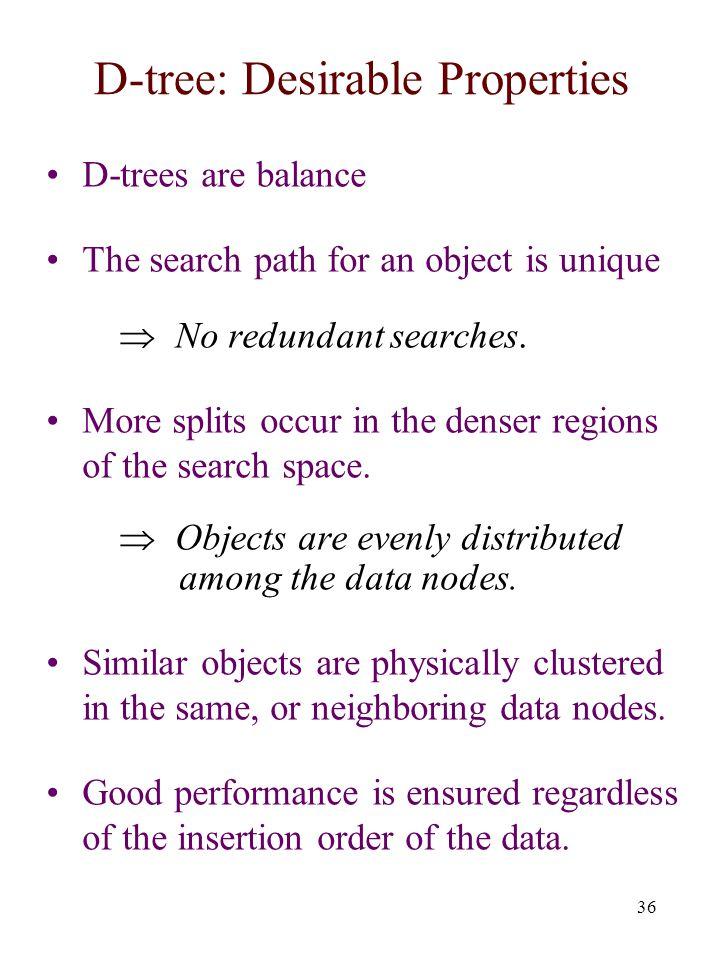 D-tree: Desirable Properties