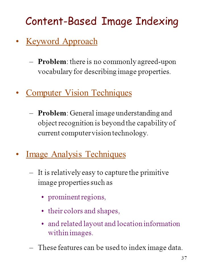 Content-Based Image Indexing