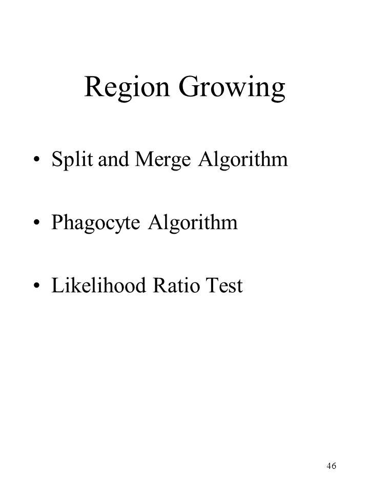Region Growing Split and Merge Algorithm Phagocyte Algorithm