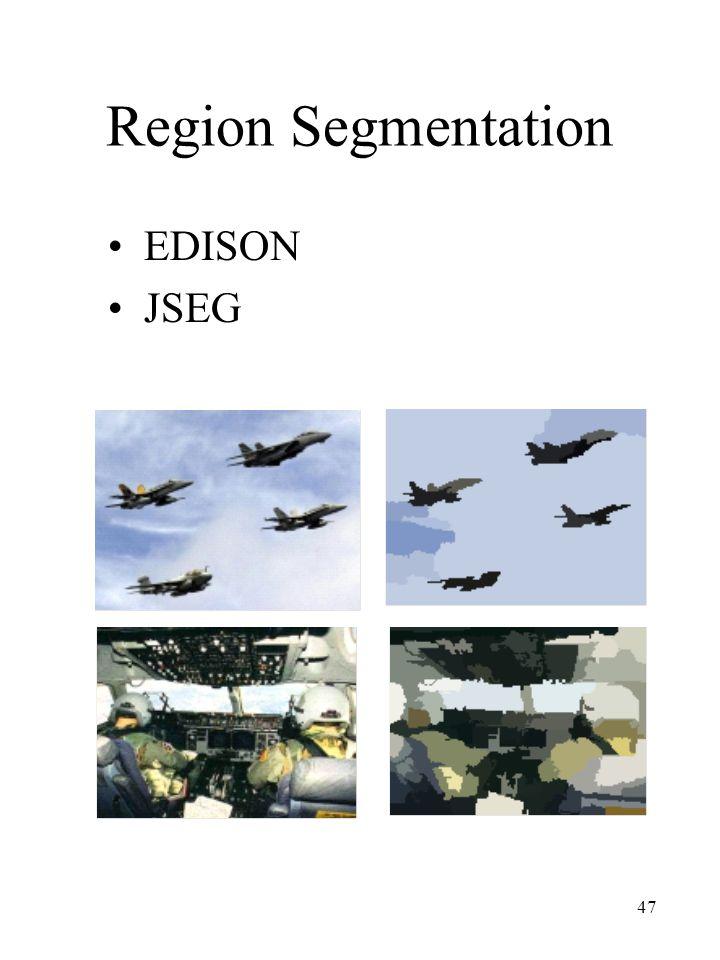Region Segmentation EDISON JSEG
