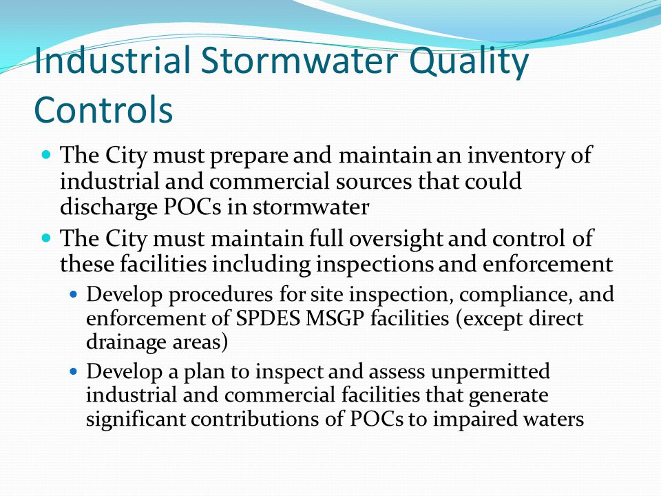 Industrial Stormwater Quality Controls