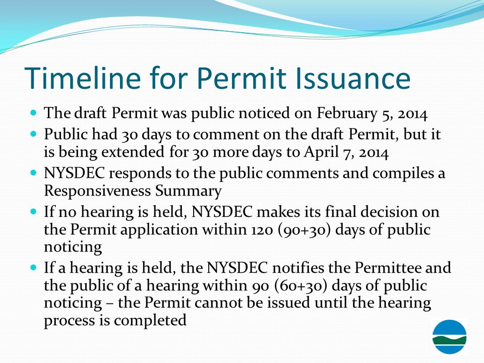 Timeline for Permit Issuance