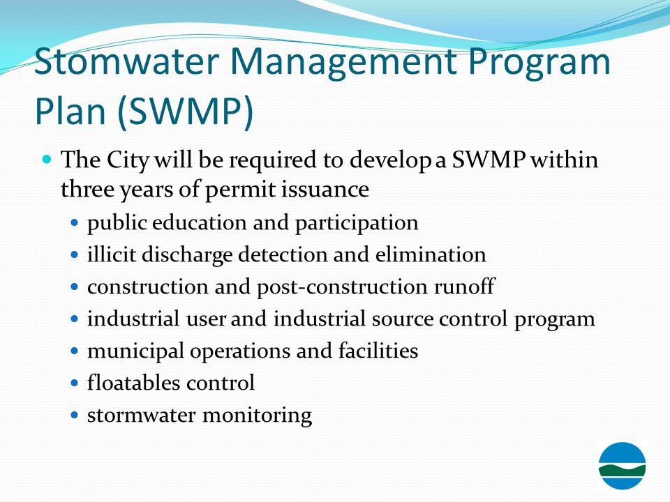 Stomwater Management Program Plan (SWMP)