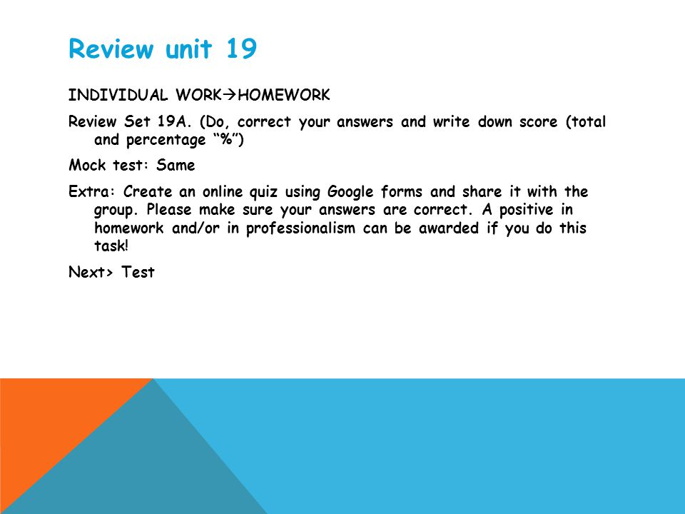 Review unit 19