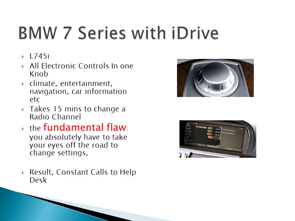 BMW 7 Series with iDrive L745i All Electronic Controls In one Knob