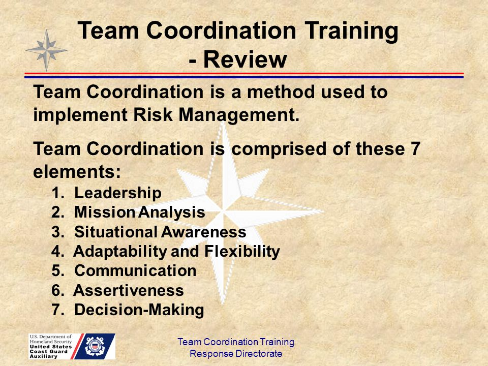Team Coordination Training - Review