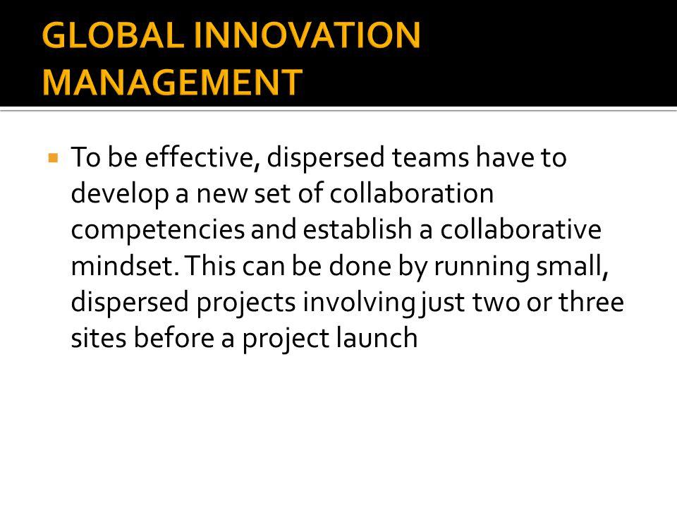 GLOBAL INNOVATION MANAGEMENT