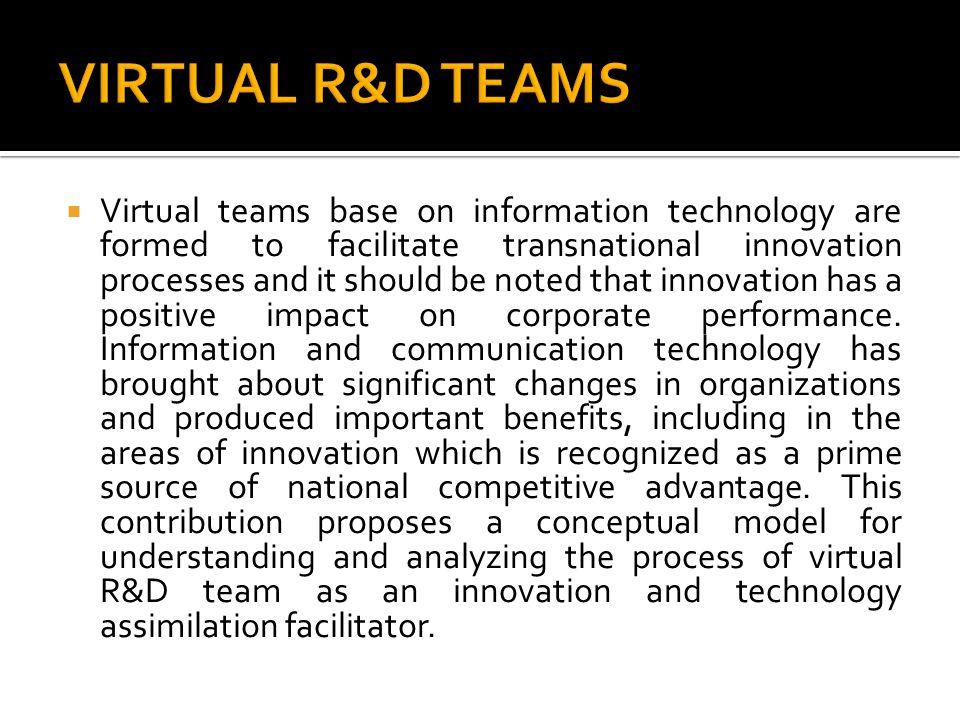 VIRTUAL R&D TEAMS
