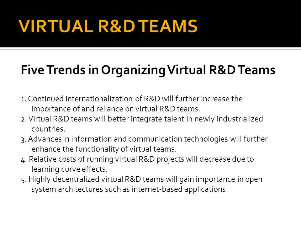 VIRTUAL R&D TEAMS Five Trends in Organizing Virtual R&D Teams