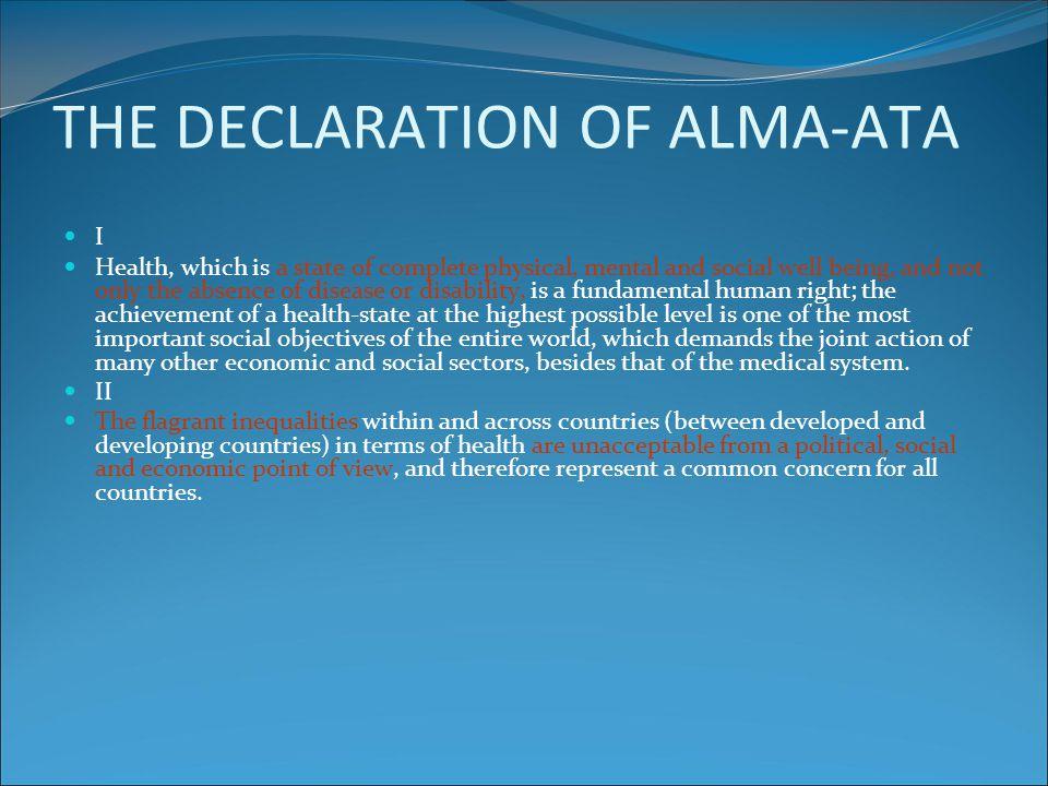 THE DECLARATION OF ALMA-ATA