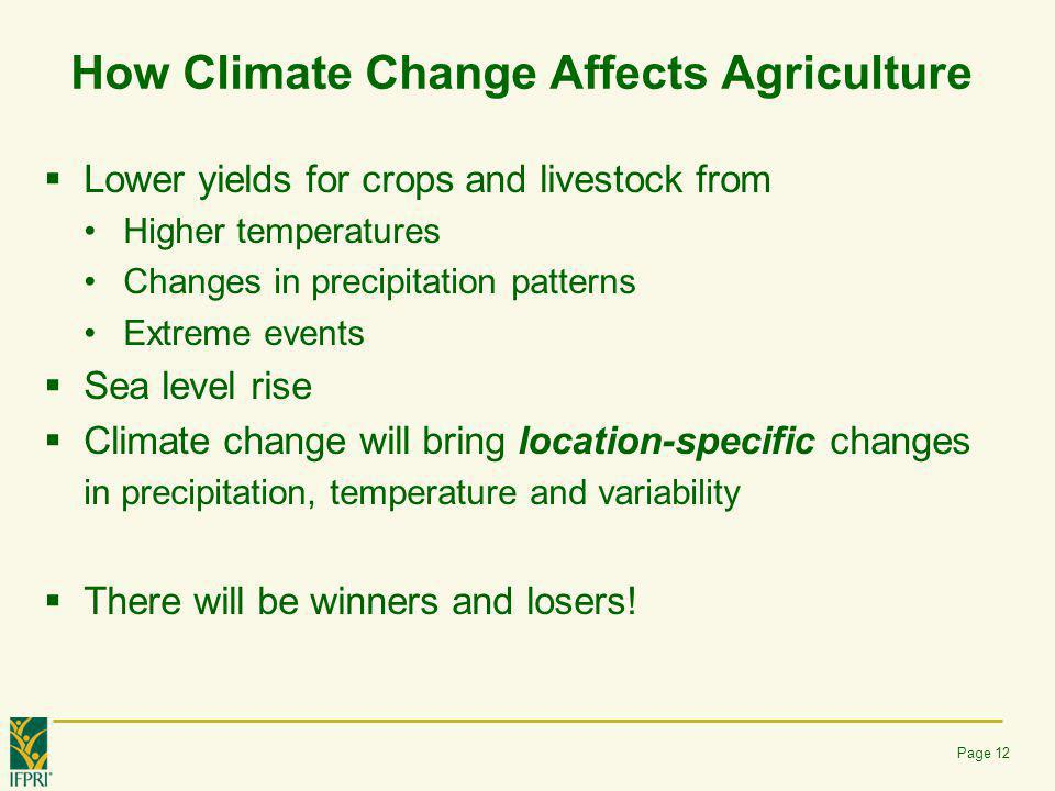 How Climate Change Affects Agriculture