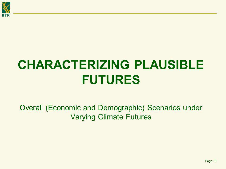 Characterizing Plausible futures