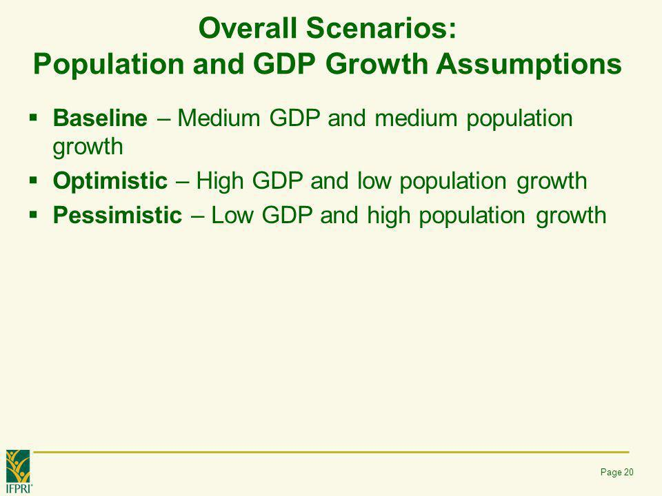 Overall Scenarios: Population and GDP Growth Assumptions