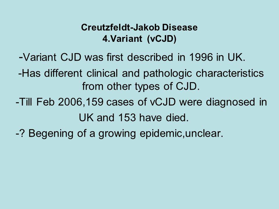 Creutzfeldt-Jakob Disease 4.Variant (vCJD)