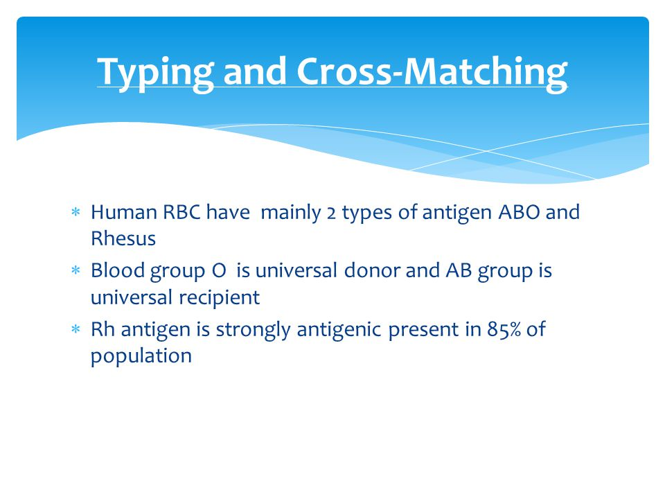 Typing and Cross-Matching
