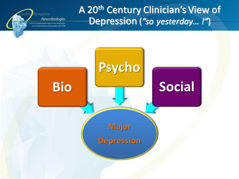 A 20th Century Clinician's View of Depression ( so yesterday… ! )