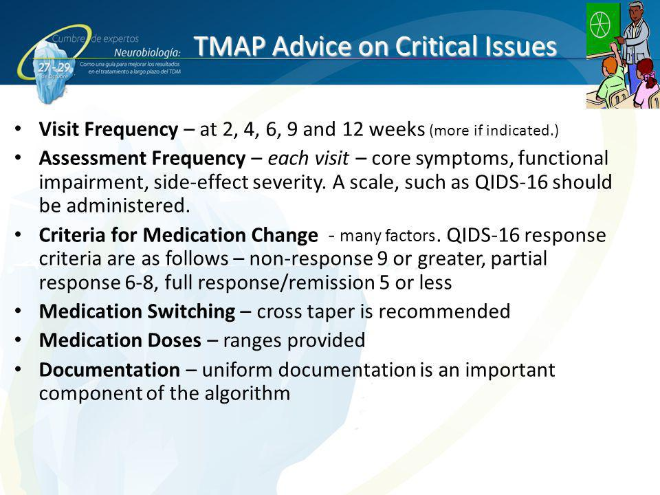 TMAP Advice on Critical Issues