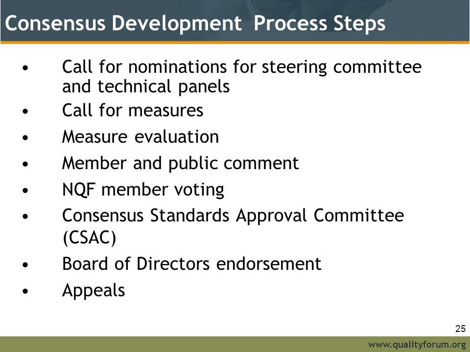 NQF Consensus Development Process