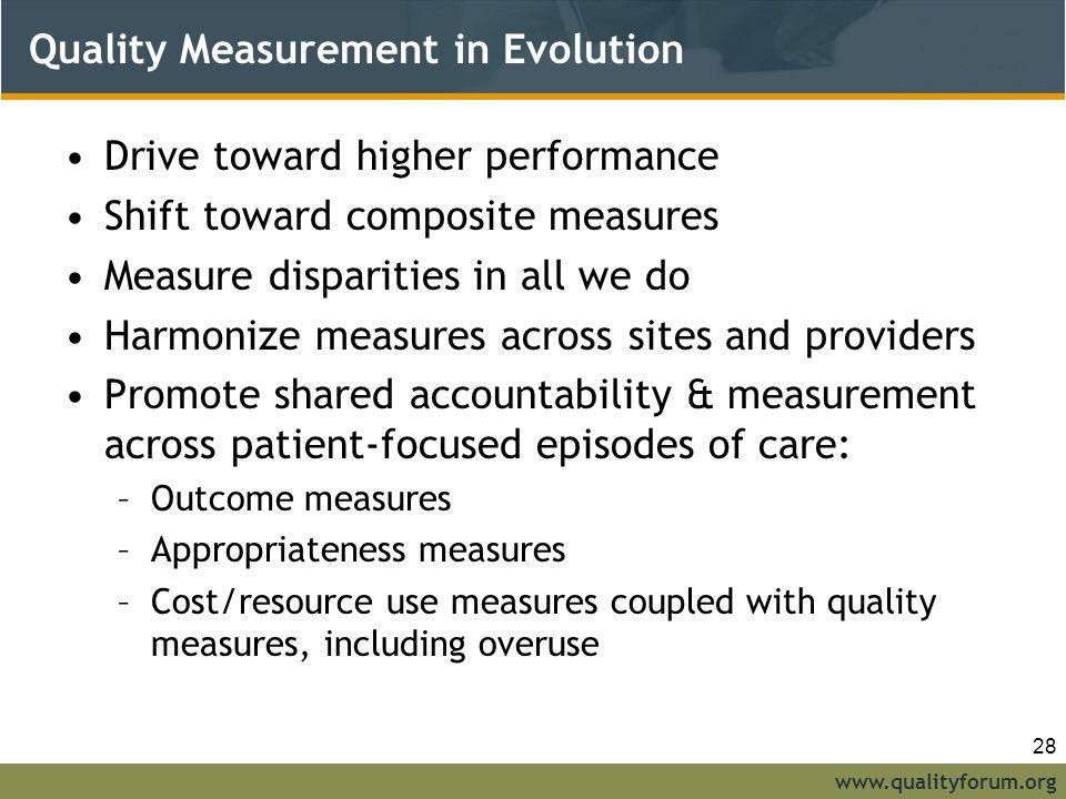 Quality Measurement in Evolution