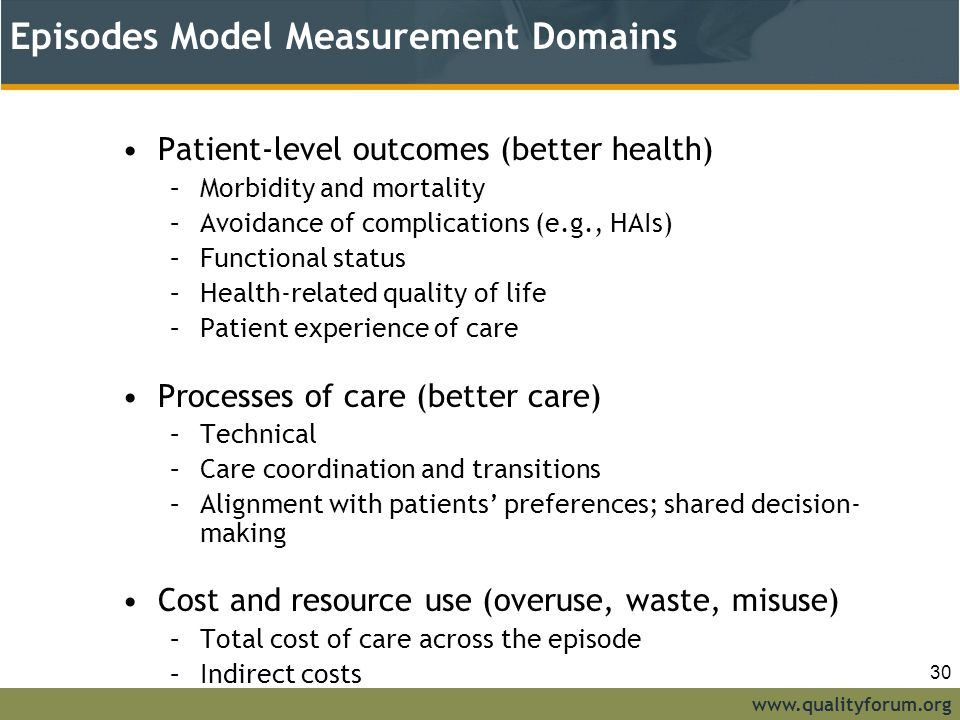 Episodes Model Measurement Domains
