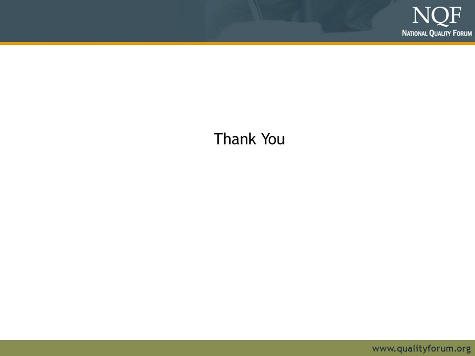Thank You www.qualityforum.org